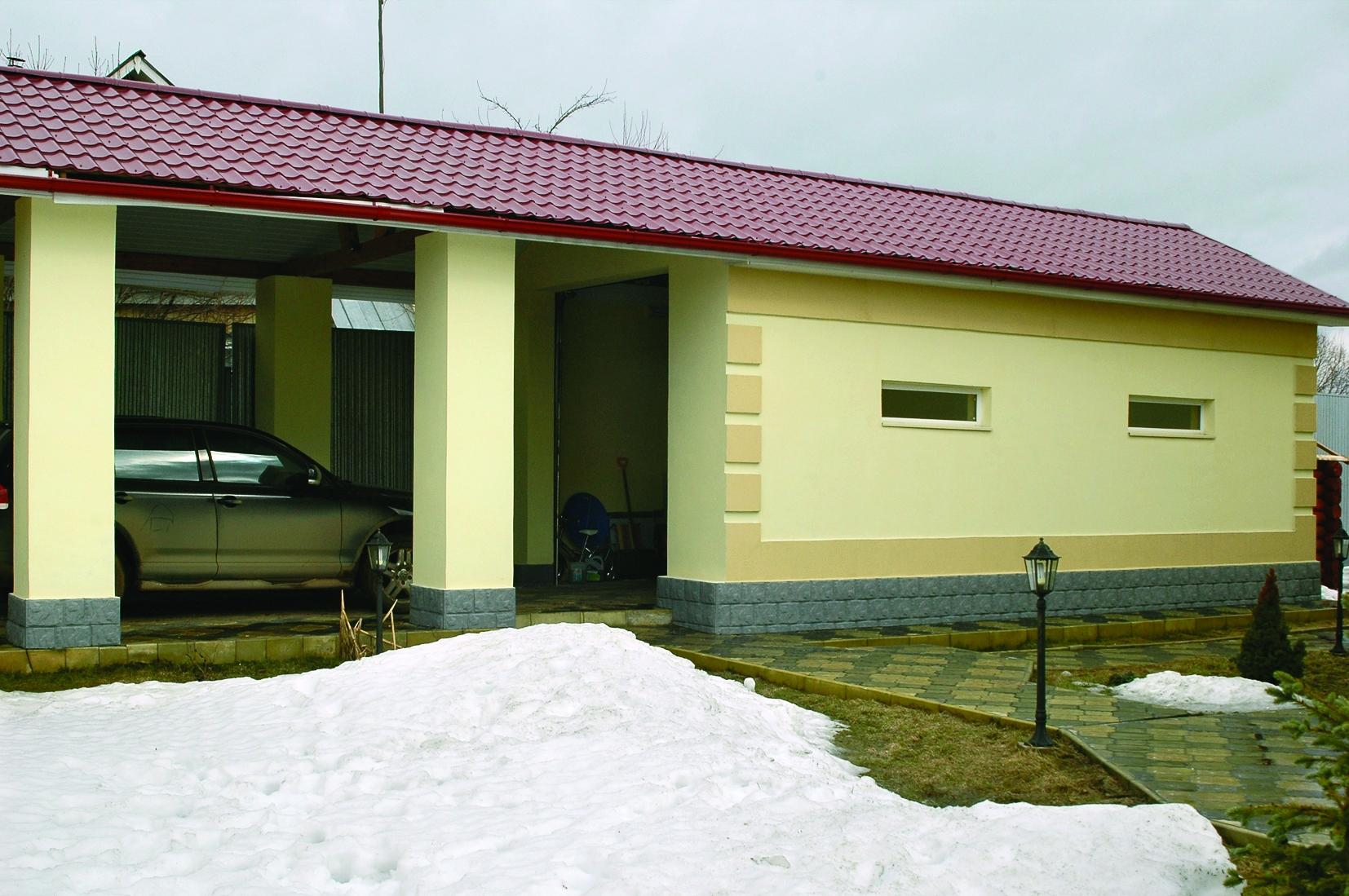 Бюджетный гараж своими руками